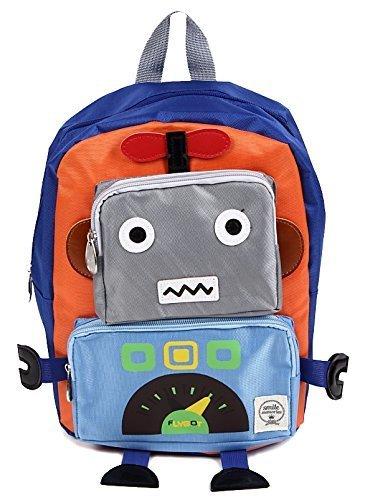 ロボット型 リュックサック キッズバッグ 子供用 カバン 男の子 女の子 ベビー 通園 遠足 おでかけ バックパック 幼稚園 (オレンジ),幼稚園,バッグ,