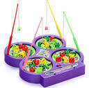 DCMR ワクワク 魚釣り 4人 対戦 テーブル 磁石 マグネット フィッシング ゲーム お楽しみカラー,おもちゃ,ゲーム,