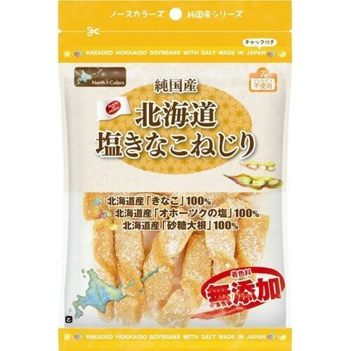 ノースカラーズ 北海道塩きなこねじり 110g,安心,お菓子,