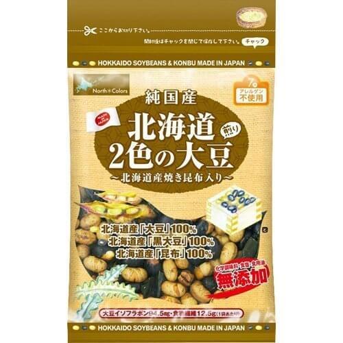 ノースカラーズ 純国産北海道2色の煎り大豆 70g,安心,お菓子,