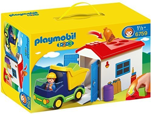 プレイモービル 1・2・3シリーズ 1.2.3トラックのおうち 6759,プレイモービル,