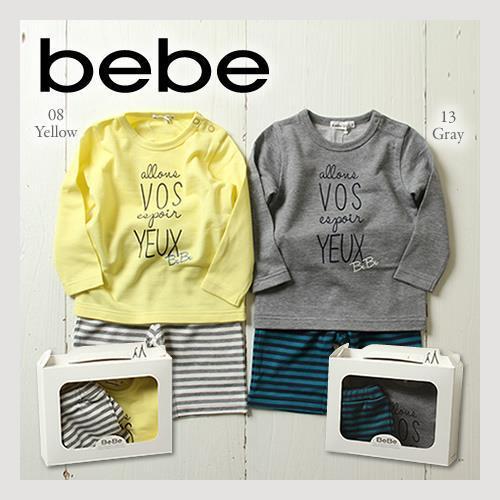 BEBE 簡易BOX付き 男の子用 長袖Tシャツ ・ ボーダー ハーフパンツ 2点セット,子供服,通販サイト,