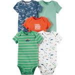 5パックオリジナルボディスーツ グリーン/ブルー,子供服,通販サイト,