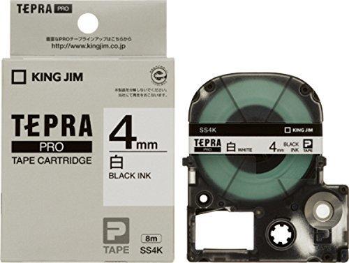 キングジム テープカートリッジ テプラPRO 4mm SS4K,テプラ,おすすめ,