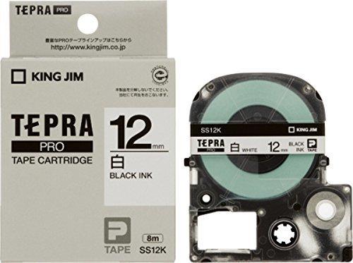 キングジム テープカートリッジ テプラPRO 12mm SS12K,テプラ,おすすめ,