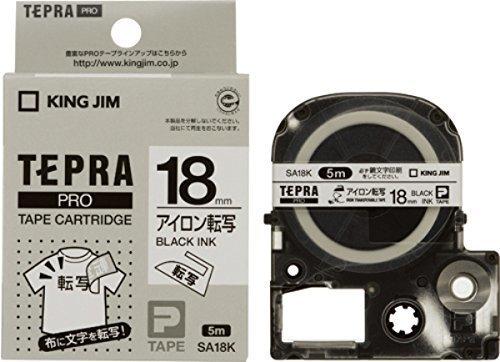 キングジム テープカートリッジ テプラPRO アイロン転写テープ 18mm SA18K,テプラ,おすすめ,