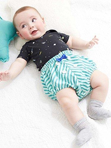 4203fad22875e Caldia カルディア ベビー ストライプ ブルマ 赤ちゃん 男の子 女の子 おむつカバー 70㎝ グリーン