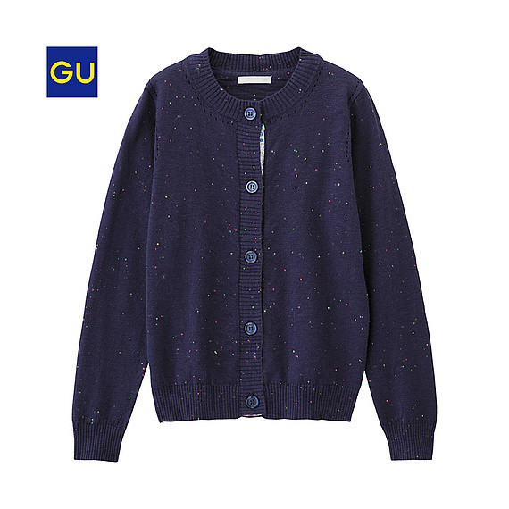 GU 女児用カラーネップカーディガン,子供服,カーディガン,