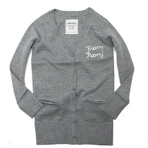 (ブーミールーミー) Boomy Roomy ロゴ刺繍ロングカーディガン グレー(GY) 140,子供服,カーディガン,
