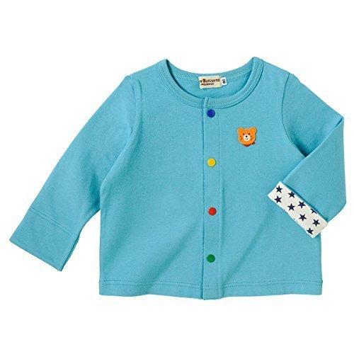 ミキハウス ホットビスケッツ (MIKIHOUSE HOT BISCUITS) カーディガン 71-5801-970 90cm Sブルー,子供服,カーディガン,