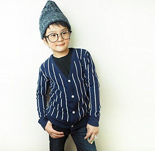 ストライプ Vネック カーディガン 男の子 女の子 カーディガン 羽織り ジャケット パーカ 通学 男の子,子供服,カーディガン,