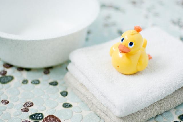 洗面器とタオル,子供,溶連菌,