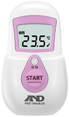 エー・アンド・デイ 非接触体温計UT-701(でこピッと)ピンク,赤ちゃん,体温計,
