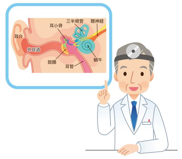 中耳炎の説明イメージ,急性中耳炎,子供,