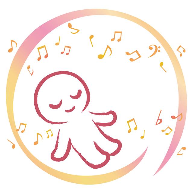音楽と赤ちゃんイメージイラスト,出産方法,