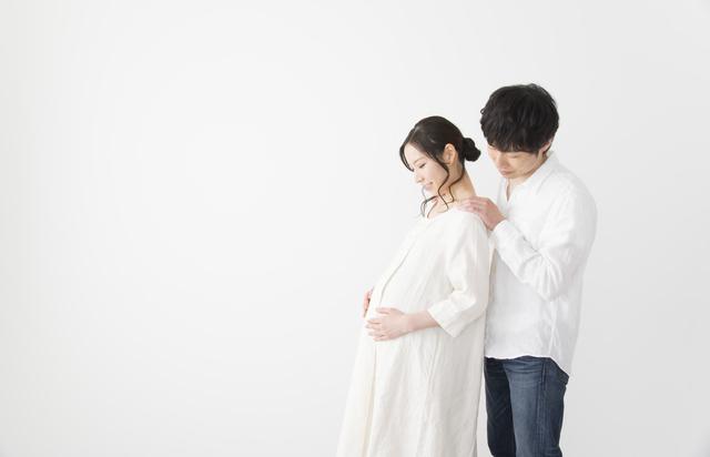 妊婦夫婦,妊娠,24週,胎児