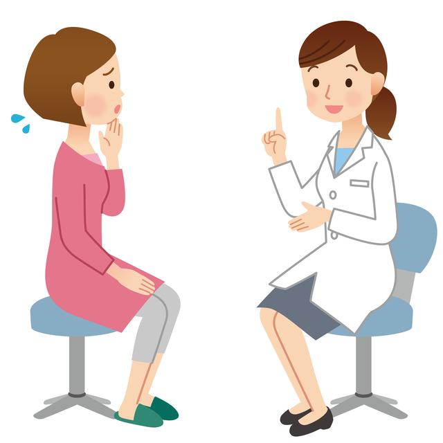 病院での診察,妊娠初期,腹痛,出血