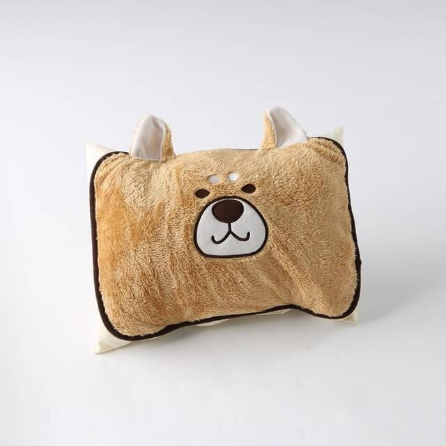 枕パッド,もこもこシバ犬,