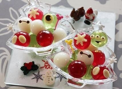 クリスマスカラーのゼリーボール,スイーツ,レシピ,