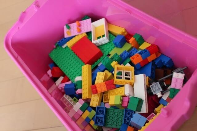 ブロックの収納,おもちゃ,収納,IKEA