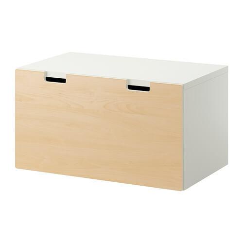 STUVA 収納ベンチ, ホワイト, バーチ,おもちゃ,収納,IKEA