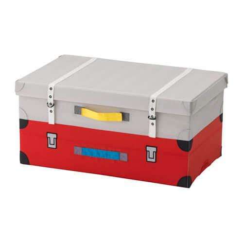 FLYTTBAR おもちゃ用トランク, レッド,おもちゃ,収納,IKEA