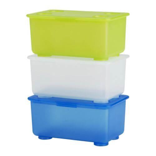 GLIS(グリース)ふた付きボックス(3色),おもちゃ,収納,IKEA