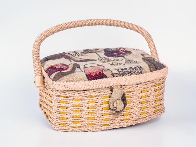 デコパージュしたバッグ,手作り,スタイ,デコパージュ