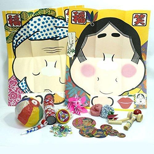 【和玩具】 昔遊びセット(12種取り揃え) 【お正月】  / お楽しみグッズ(紙風船)付きセット,正月,おもちゃ,三世代