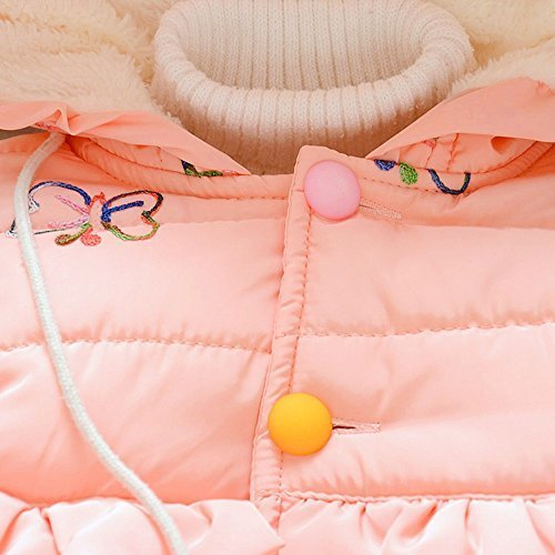 Cutelove コート アウターウェア フード付き 花柄 ロングスリーブ 長袖 コットン 綿 女の子 ベビー ガールズ 赤ちゃん 幼児 冬 可愛い 暖かい 厚い 素敵 防寒 保温 カジュアル 普段着 韓国,子供服,コート,