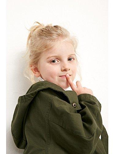 AZUL BY MOUSSY KIDS(アズールバイマウジー キッズ)【KIDS】プリント中綿ライナー取り外しミリタリーコート KHA 110cm,子供服,コート,