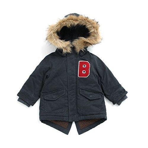 BREEZE(ブリーズ) ネット限定 中綿モッズコート ネイビーブルー 120cm,子供服,コート,