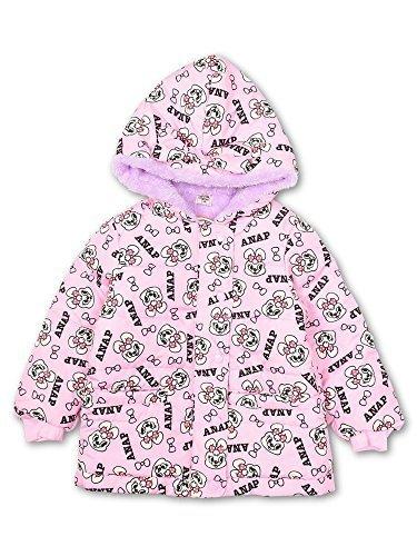 (アナップキッズ) ANAP KIDS ポンポン柄中綿ボアコート 90cm ピンク,子供服,コート,