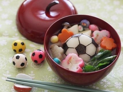 サッカーボールのお雑煮,餅,アレンジ,