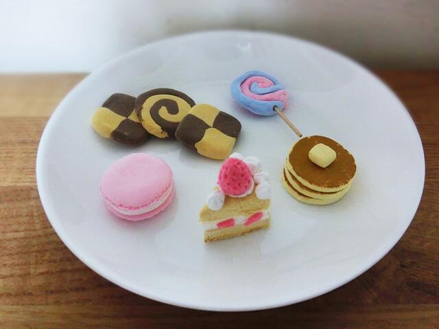 紙粘土 手作り スイーツ クッキー ケーキ,粘土,遊び,