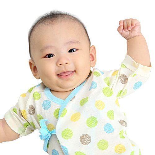 新生児 肌着セット ベビー 赤ちゃん 肌着 服 4枚セット 短肌着 50-60cm コンビ肌着 50-70cmオーガニックコットン 綿100% フライス マリン ボーダー ドット 男の子,9月,出産準備,肌着