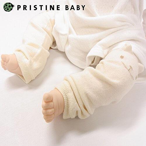 PRISTINE BABY[プリスティンベビー] くまレッグウォーマー オーガニックコットン 日本製,赤ちゃん,冬,おでかけ