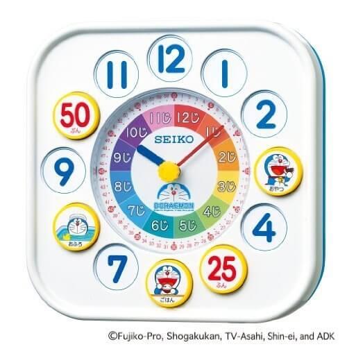 SEIKO CLOCK(セイコークロック) ドラえもん知育時計(白) CQ319W,知育玩具,小学生,