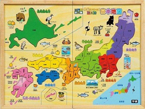木製 パズル日本地図,知育玩具,小学生,