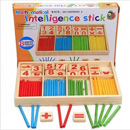 Alytimes 算数+虫さん型数字ブロックセット 「虫さんブロックやカラフル棒を使いながら、遊びながら楽しく算数や英語のお勉強!」算数パズル 算数時計  ポパイの算数 算数セットおはじき 積み木 おもちゃ かけざん 割り算 足し算 引き算 1年生 ランドセル,知育玩具,小学生,