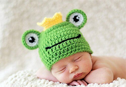 QD-SGMP ベビー服 ベビー用 コスチューム 新生児 着ぐるみ 寝相アート 2点セット 可愛い カエル 蛙の王子様 出産祝い,ハーフバースデー,お祝い,