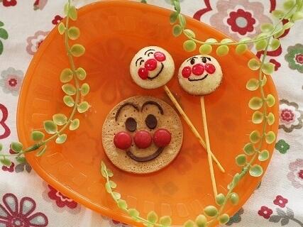アンパンマンキャラスイーツ,バレンタイン,簡単,手作り