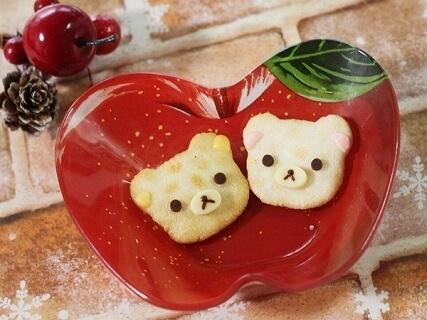 リラックマ&コリラックマのせんべい,バレンタイン,簡単,手作り
