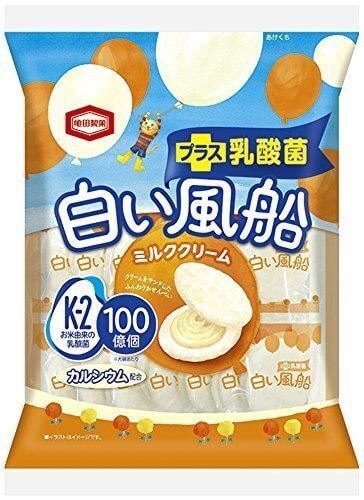 亀田製菓 白い風船ミルククリーム 18枚×12袋,バレンタイン,簡単,手作り