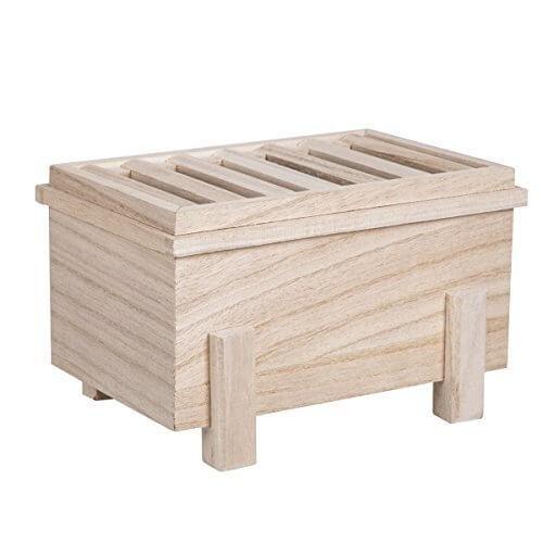 [DITTO MARK] 温かみのある天然素材を使用した賽銭箱型の「貯金箱」 お部屋のワンポイントにも,