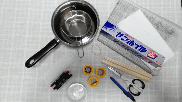 カラフルチップのキャンドル 材料,手作り,キャンドル,