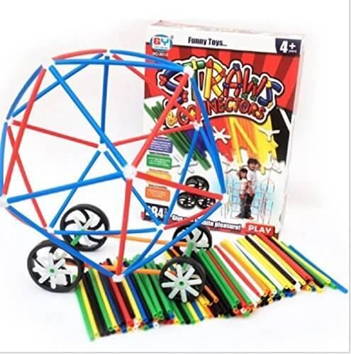 知育玩具 4歳以上 STRANNS CONNECTOTRS 4Dストローブロック 組み立て簡単,知育玩具,4歳,