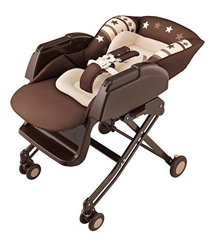 アップリカ ハイローベッド&チェア ニューボーン EASY WASH チョコレートBR (食事イス用 あやし用 寝かしつけ用) 91065,離乳食,椅子,
