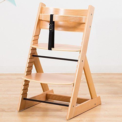 笑顔のダイニングベビーチェアー 木製椅子 安心強度の三角形ベース 【マジカルチェア】 ナチュラル色,離乳食,椅子,