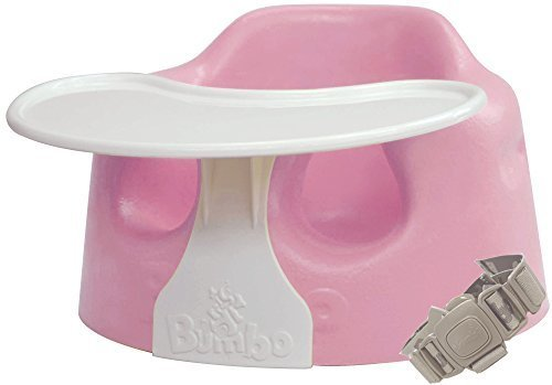 Bumbo バンボ コンボ プレートレイ付き ベビーソファ 【正規総輸入元】 後から付けられる専用腰ベルト入り ピンク,離乳食,椅子,